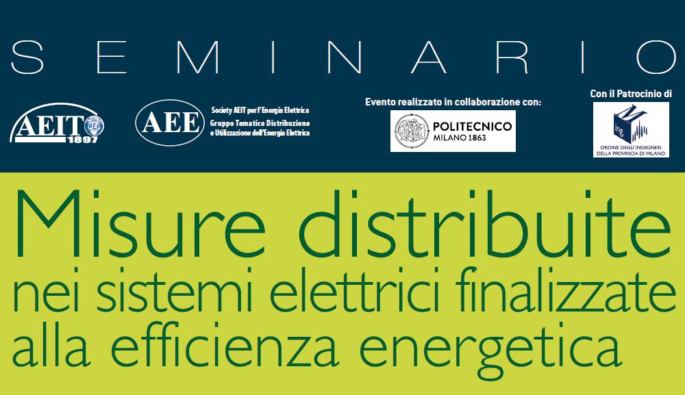 Seminario Politecnico Milano – giovedì 28 giugno 2018